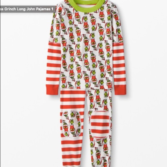 NWT Hanna Andersson Grinch Holiday PJs 10